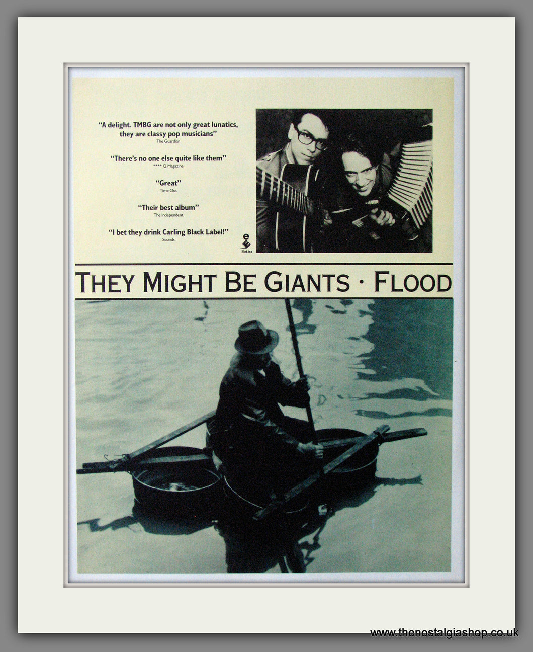 They Might Be Giants. Flood. 1990 Original Advert (ref AD54116)