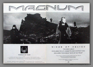 Magnum. Days Of No Trust. 1988 Original Advert (ref AD54128)