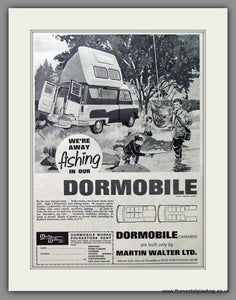 Dormobile Caravan. Going Fishing! 1964 Original Advert (ref AD53879)