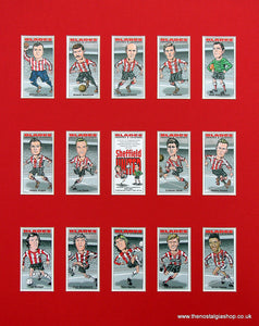 Sheffield United, Blades, Mounted Football Card Set.