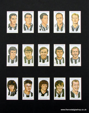 Newcastle Heroes. Mounted Football Card Set.