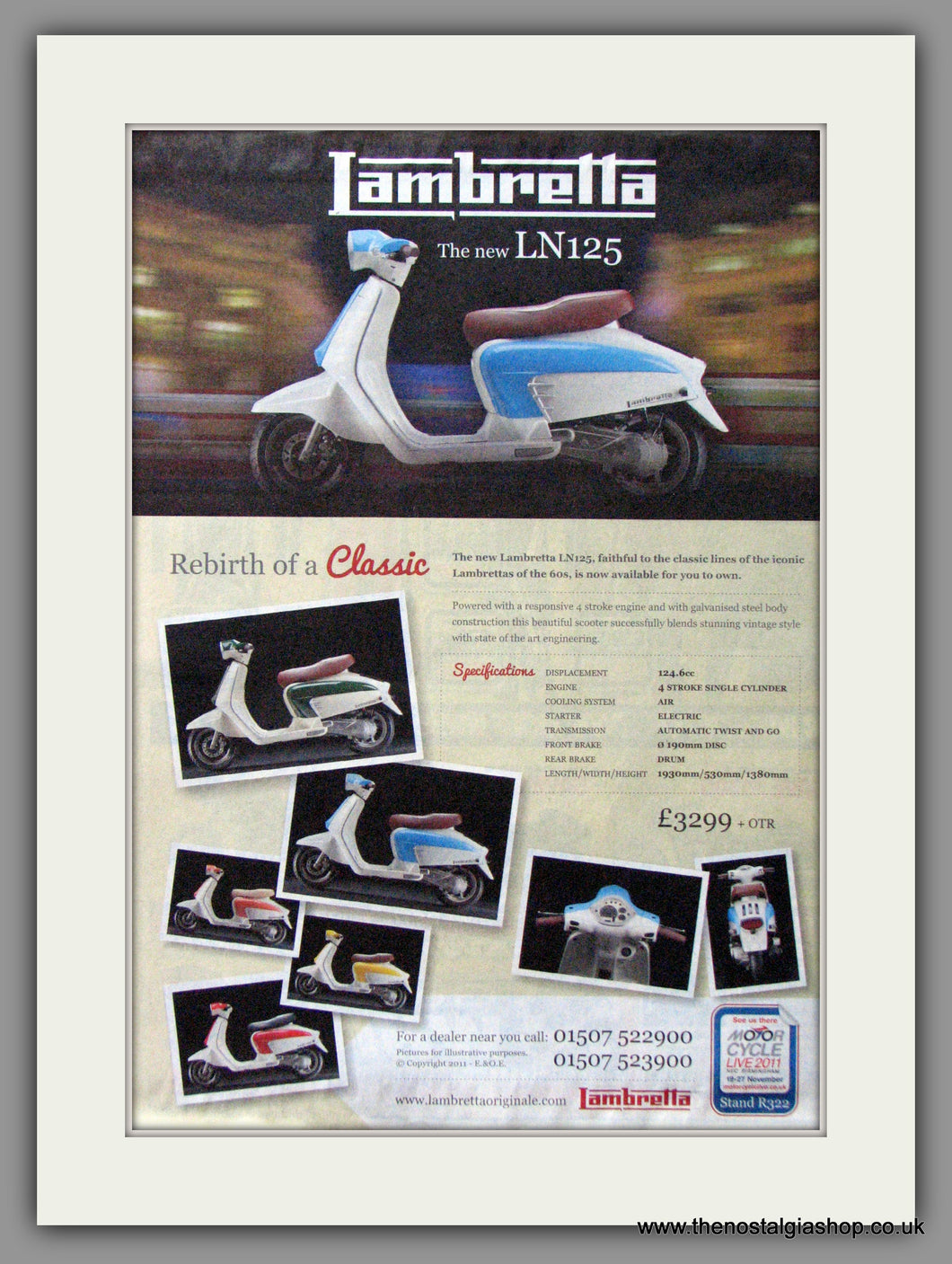 Lambretta LN125, Rebirth Of A Classic. Original advert 2011 (ref AD54028)