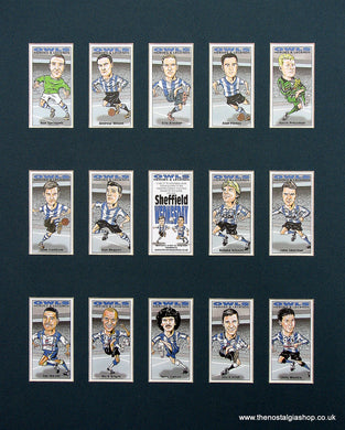 Sheffield Wednesday Heroes and Legends. Mounted Football Card Set.