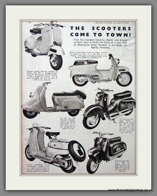 Scooter Range '55. Original Double Advert 1955 (ref AD54248)