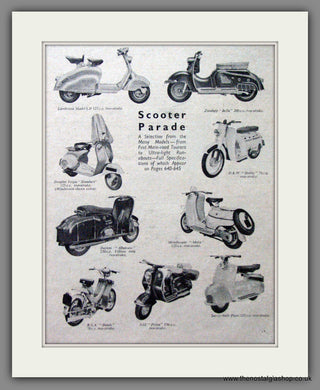 Scooter Parade '57. Original Advert 1957 (ref AD54249)
