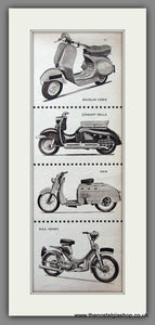 Scooter Illustrations '57 Original Advert 1957 (ref AD54254)