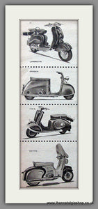 Scooter Illustrations '57 Original Advert 1957 (ref AD54255)