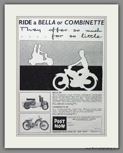 Bella Scooter. Original Advert 1959 (ref AD54250)