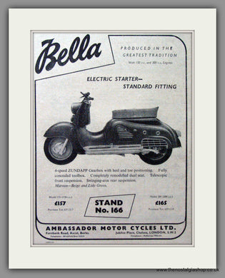 Bella Scooter. Original Advert 1955 (ref AD54253)