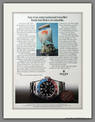 Rolex Watches. For The International Traveller. Original Advert 1979 (ref AD54346)