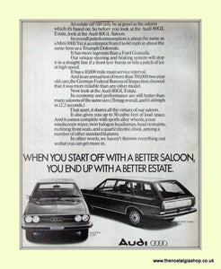 Audi 80GL And 80GL Estate Original Advert 1976 (ref AD6788)