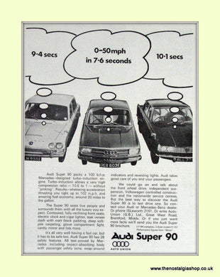 Audi Super 90 Vintage Advert 1967 (ref AD6954)
