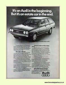 Audi 80GL Estate Vintage Original Advert 1975 (ref AD6961)