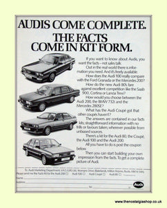 Audi Vintage Original Advert 1982 (ref AD6966)
