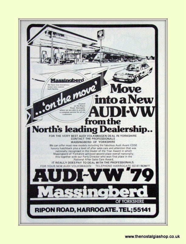 Audi-VW Massingberd Dealers Vintage Original Advert 1979 (ref AD6972)