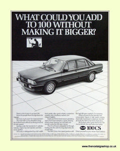 Audi 100 CS Vintage Original Advert 1982 (ref AD6978)