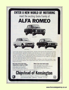 Alfa Romeo 1750 Saloon. Chipstead of Kensington. Dealership Original Advert 1969 (ref AD50009)