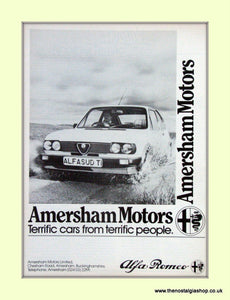 Alfa Romeo Alfasud 1.3 Ti. Amersham Motors. Set of 3 Dealership Original Adverts 1984 (ref AD50012)