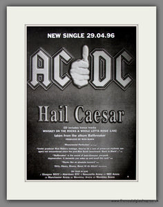 AC DC, Hail Caesar. Original Advert 1996 (ref AD11631)