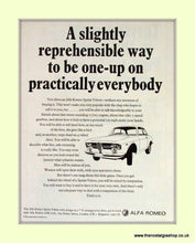 Load image into Gallery viewer, Alfa Romeo Set of 2. Original Adverts 1967 (ref AD50043)