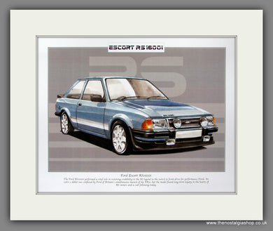 Ford Escort RS1600i Mk III. Mounted Print.