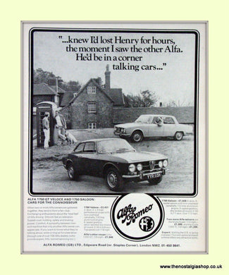 Alfa Romeo 1750 GT Veloce and Saloon. Set of 3 Original Adverts 1970 (ref AD50064)