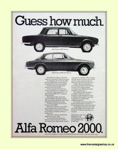 Alfa Romeo 2000. Original Advert 1974 (ref AD50074)
