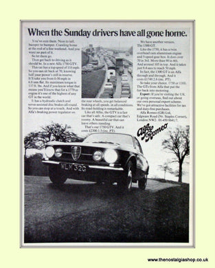 Alfa Romeo 1750 GTV. Set of 3 Original Adverts 1968/69 (ref AD50104)