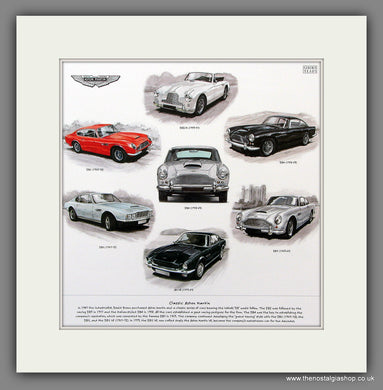 Aston Martin. Mounted print
