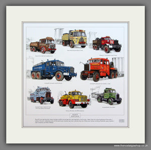 Heavy Haulage.  Mounted print