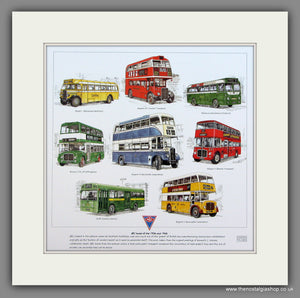 Buses; AEC of the 1950s & 1960s  Mounted print