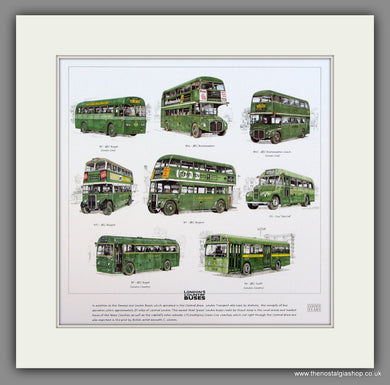 Buses; London Country  Mounted print