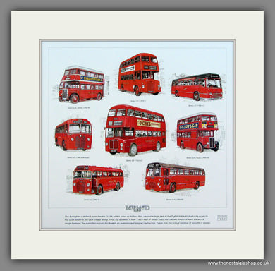 Buses; Midland Red  Mounted print