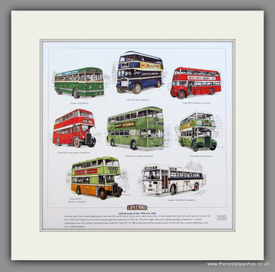 Buses; Leyland of the 1950s & 1960s  Mounted print