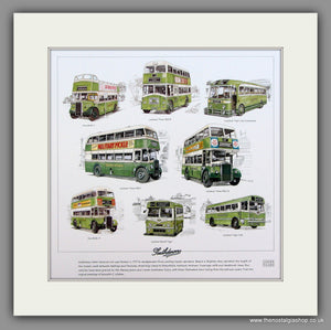 Buses; Southdown  Mounted print
