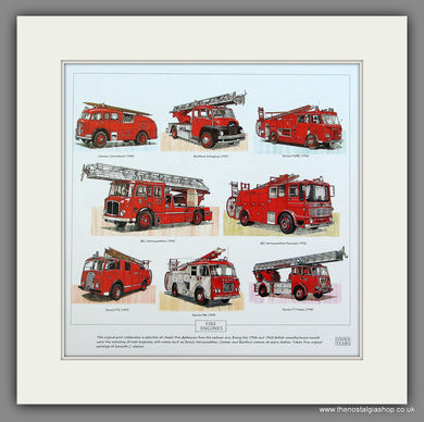 Fire Engines 1 Mounted print