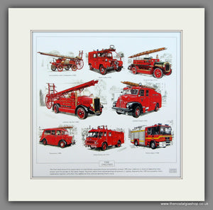 Fire Engines 2.  Mounted print