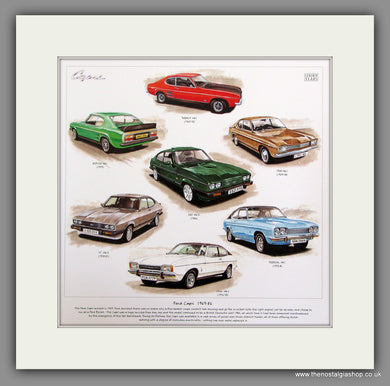 Ford Capri 1969-86 Mounted Car Print