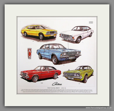 Ford Cortina MkIII 1970-76 Mounted Car Print