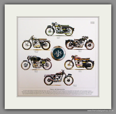 AJS Motorcycle Mounted Print