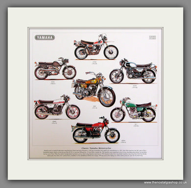 Yamaha Motorcycles Mounted Print