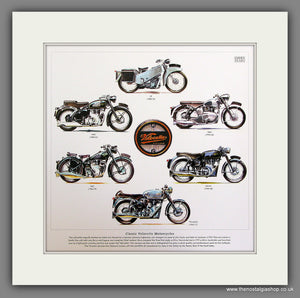 Velocette Motorcycles Mounted Print