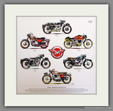 Matchless Motorcycles Mounted Print