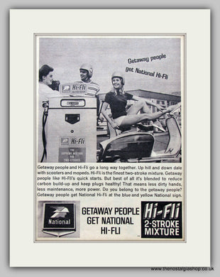 Scooter Petrol, National Hi-Fli.  Original Advert 1964 (ref AD6817)