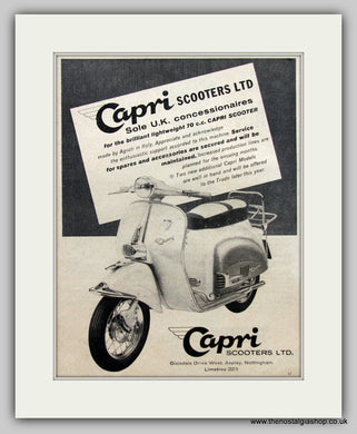 Capri 70cc Scooter 1960 Original Advert (ref AD6818)