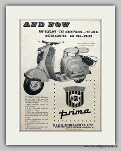 NSU Prima150cc Scooter 1956 Original Advert (ref AD6820)