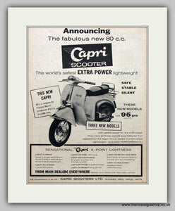 Capri 80cc Scooter 1960 Original Advert (ref AD6821)