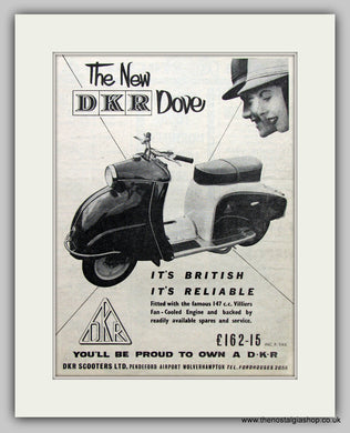 DKR Dove 147cc Scooter 1957 Original Advert (ref AD6822)