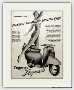 Triumph Tigress Scooter 1958 Original Advert (ref AD6823)