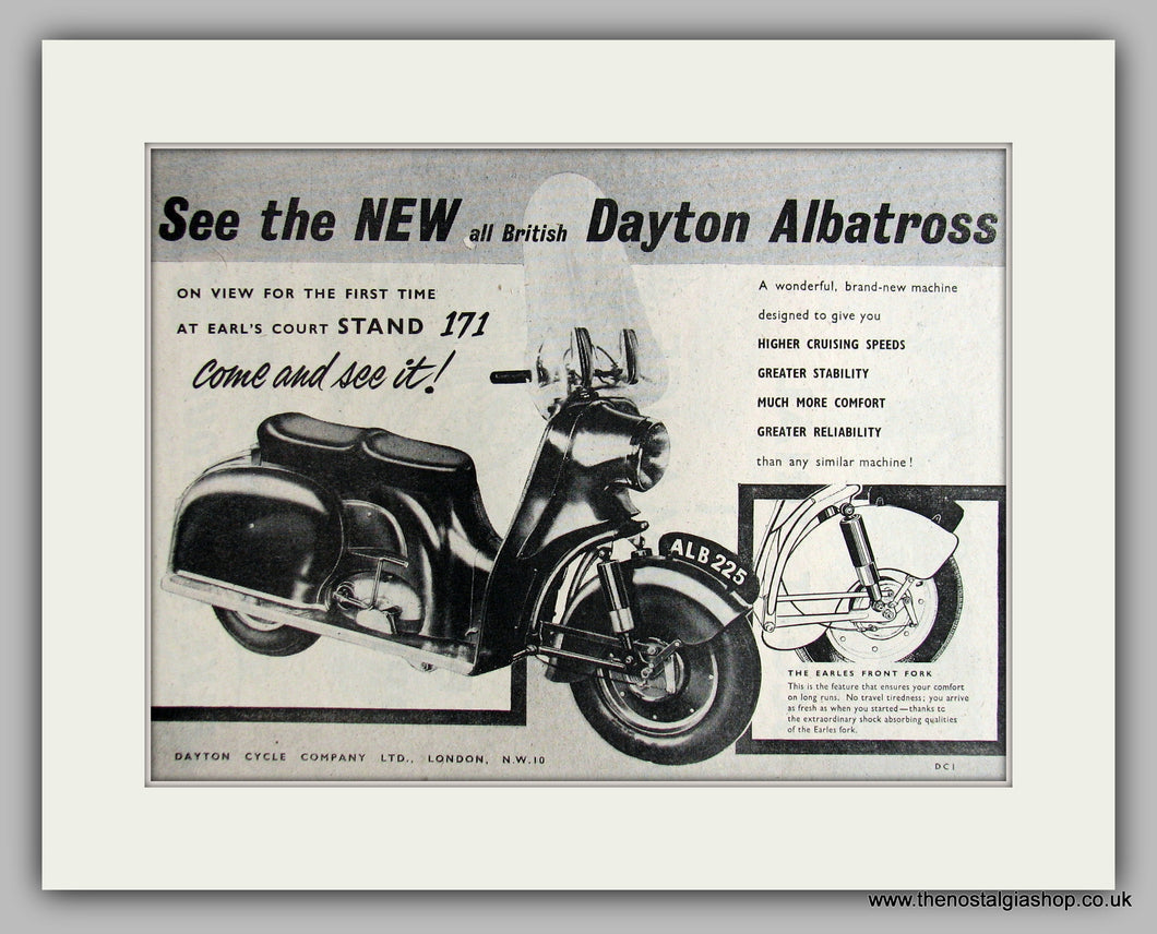 Dayton Albatross  Scooter 1954 Original Advert (ref AD6824)